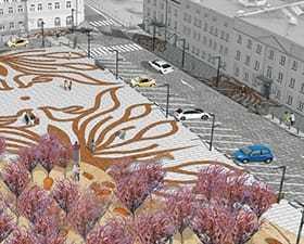 Projekt architektury krajobrazu: plac im. Bema w Ostrołęce – konkurs