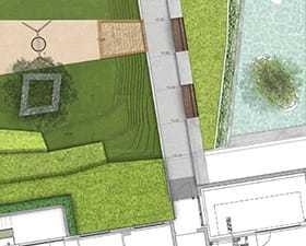 Zieleń na osiedlu: projekt patio w apartamentowcu w Gdyni. Silver House.