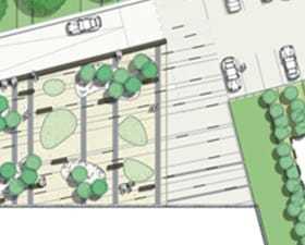 Projekt zieleni przy biurowcu: Siedziba TDT. Warszawa