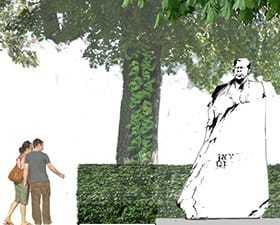 Zagospodarowanie otoczenia pomnika Ronalda Reagana w Warszawie