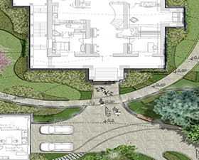 Projekt ogrodu dla rezydencji pod Moskwą