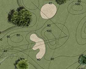 Ogród z polem golfowym