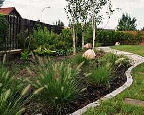 Projekt i realizacja ogrodu przy domu jednorodzinnym