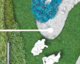 """Projekt ogrodu """"Wyspa"""" przy domu urody w Grójcu"""